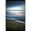 beach triptic sunset