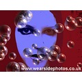 Sasparella Girl Blue Art Bubbles Effects Portrait