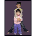 "Khizar and Mahalaka...As she says: ""Bhai shaath Makoo""...Her brother is very dear to her..."