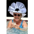 woman spa sunshine hat