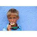 portrait boy blue