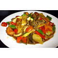 Stir fried snake with mixed vegetables