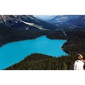 Peyto Lake, Alberta, Canada  For those that ask..  Yes it is the natural colour. Apparently c...