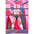 Men Man Gay Pride GayPride Spain Madrid Bouncycastle Speedos Pecs Muscle