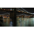 brooklyn bridge nyc night river