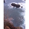 Madeira Portugal 2007 seixal down viewpoint rough sea old road view