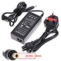 72W 12V 6A AC Power Adapter Charger Cord for Laptops LCD BS Plug