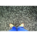 rain feet jeans ground