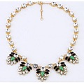 2013 Classic J Crew Luxurious Crystal Gem Leaf Gold Alloy Necklace High Quality