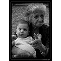 greece lesvos people bibikos portrait grand mother BW