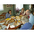 Thanksgiving people food dinner lunch men women seniors