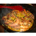 stirfry food shrimp corn