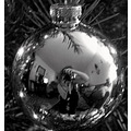 ornament christmas bw reflection