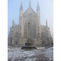 Winchester Cathedral Ice Rink hampshire england architecture city landscape
