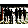 tequesquitengo mexico silhouettes people sunlight lake selfportrait