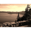 Crater lake Oregon sepia