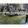 gondola nederlands canal waterways city spring water scenery landscape