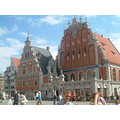 Riga, my first day in this lovely city...St.Peter square, old city