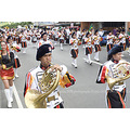 Town fiesta in a Philippine town. Band competition