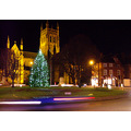 worcester cathedral christmas evening england december