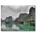 vietnam halong view boat mountain fog hdr vietx halox watev boatv viewv