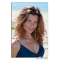 woman wife portrait summer beach vacation