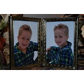When I took my grandchildren home today their mom finally gave me some new pictures...Christmas p...
