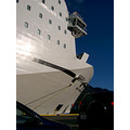 ship ships sun white cars ferry ferries Iceland port Seyisfjrur