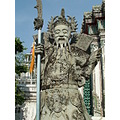 Statue at the Wat Suthat temple in Bangkok Thailand