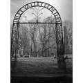 metal sign entrance grave cemetary winter black white