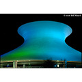 stlouis missouri us usa architecture Planetarium night color blue 091908 2008