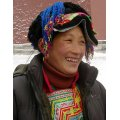 this lady who come from Tibet with her friends.