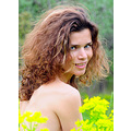 girl woman wife portrait summer meadow flowers nature smile bulgaria
