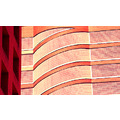 Glass Brick Red Building Architecture Window Abstract Curve Angles