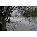 landscape redriver seineriver winter snow ice winnipeg canada