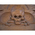 carving wood skull