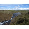 Landscape river waterfall glymur canyon Iceland