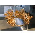 Golden funeral wreath. Freshly returned from the Getty museum, Malibu