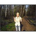 poland polish girl blonde smoke smoking forest path