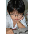 girl children reading glasses pretend cute relax book leisure