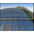 roof metal glass reflection ladder round lines windows bubble cupola