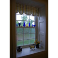 window in gold and blue