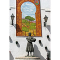 alora orange tree fruit arab arch emblem home andalucia spain