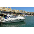 benalmadena spain harbour yacht white boat