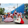 Landskrona Karneval July 2012 Red White Dresses Skane Sweden