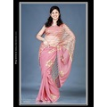Rust Pink Georgette Saree with Blouse