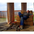 Man Bigbear Tony dogs sleep