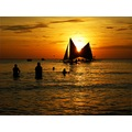 splitup boats landscape seacape philippines sea fun warm