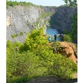 panorama stone quarries America nature Bohemia