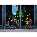 Window Copenhagen Denmark 2012 September Yellow Green Stars